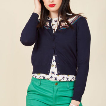 A Touch of Terrific Cardigan in Navy | Mod Retro Vintage Sweaters | ModCloth.com
