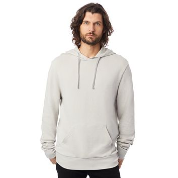 Alternative Apparel - Challenger Washed French Terry Pullover Light Grey Hoodie