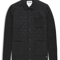 Plectrum Knitted Jacket With Melton Quilted Front | Jackets | Ben Sherman