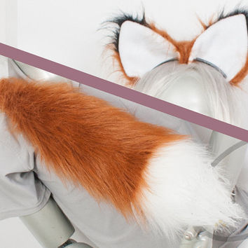 Best Fox Combo Tail and Ears - Rust Cosplay, Accessories, Costume