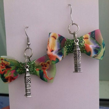 Peter Pan Inspired Bow Earrings