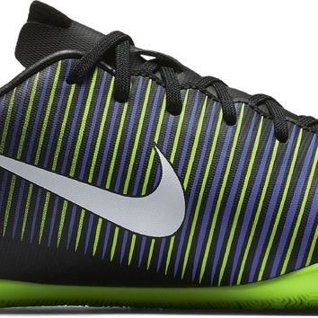 Nike Kids JR Mercurial Vapor XI IC Indoor Soccer Shoe Black, White, Electric Green, Pa