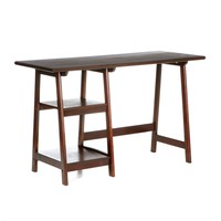 Espresso Finish Wood Home Office Laptop Computer Desk