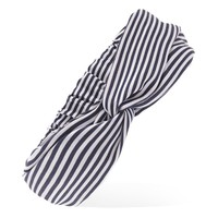 Pinstriped Twist-Front Headwrap