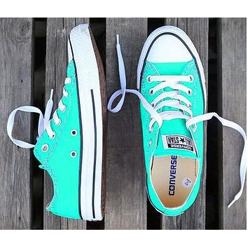 Converse Fashion Women Men Casual Canvas Flats Sneakers Sport Shoes Mint Green