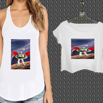 Buzz Lightyear For Woman Tank Top , Man Tank Top / Crop Shirt, Sexy Shirt,Cropped Shirt,Crop Tshirt Women,Crop Shirt Women S, M, L, XL, 2XL*NP*