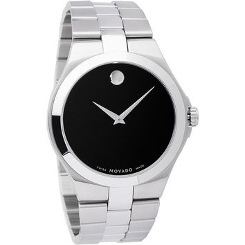 Movado Men's 0606555 Stainless Steel Black Dial Watch