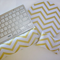 metallic gold chevron Keyboard rest and / or WRIST REST for MousePads - Pick your own pattern - mouse pad set coworker gift Desk Accessories