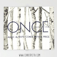 Once Upon a Time Blanket Throw Magic Home Decor OUAT TV Show Decorative Fandom Fairytale Forest Quote Television Gift Fan Quote Room For Bed