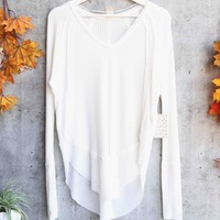 Free People - Catalina long-sleeve thermal top - Ivory
