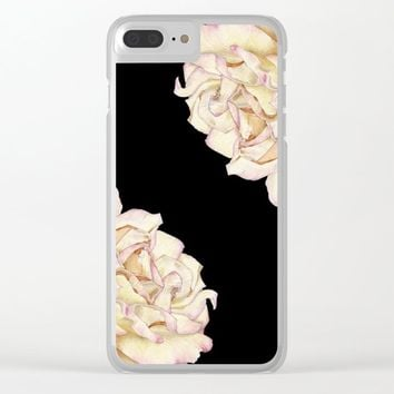 Roses - Lights the Dark Clear iPhone Case by drawingsbylam