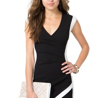 Wrap Around Surplice Dress