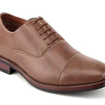 Ferro Aldo Men's 19516L Cap Toe Classic Balmoral Lace Up Oxford Dress Shoes
