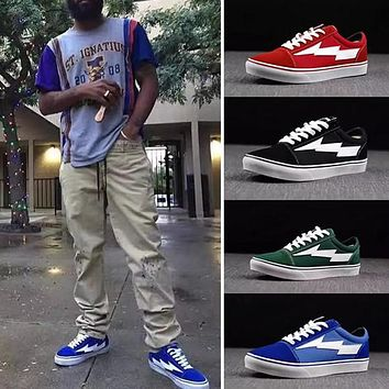 2017 ysooxc revenge of the storm revenge x storm joint lightning kanye little brother works four color men and women shoes with box 36 44