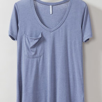 Z Supply Blue Granite Pocket Tee