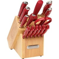 Farberware 15 piece Forged Triple Riveted Cutlery Set with EZ Angle Sharpening Steel - Walmart.com