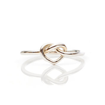 Heart Knot Ring- Sterling Silver