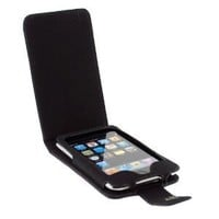 Premium Black Flip Leather Case for Apple Ipod Touch Itouch 8GB 16GB 32GB 2G 2nd Generation