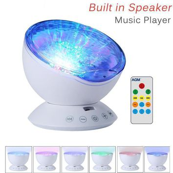 USB Wave Starry Sky LED Night Light Projector Lamp