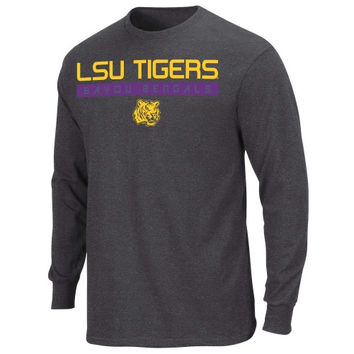 LSU Tigers Tough-Minded 2 Long Sleeve T-Shirt - Charcoal