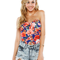 Papaya Clothing Online :: FLORAL CROP TOP