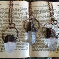 Raw Crystal Necklace  Raw Quartz  Jewelry  Natural Healing Crystal Pendant  Bohemian Necklace  Gypsy Necklace  Raw Crystal Jewelry Boho
