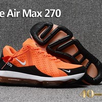 Nike Air Max 270 Orange/Black Cushion Shoes