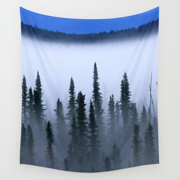 Fog Amongst the Trees Wall Tapestry by BravuraMedia