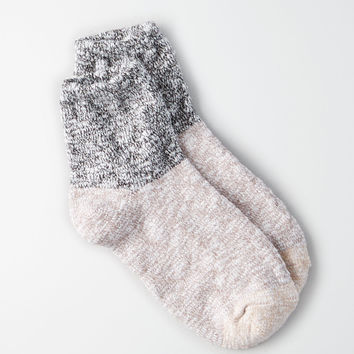 AEO MARLED COLORBLOCK QUARTER SOCKS, Charcoal