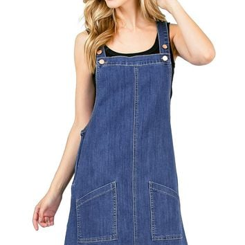 Mod Pinafore Denim Dress