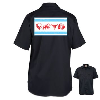The Alley Chicago Sports Parody Flag Work Shirt