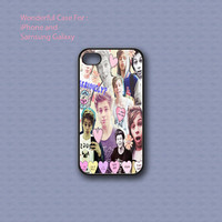 Luke Hemmings 5 SOS Collage - Print on hard cover for iPhone case and Samsung Galaxy case