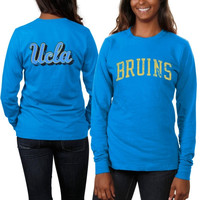 UCLA Bruins Women's Long Sleeve Fitted Slab Serif T-Shirt – True Blue