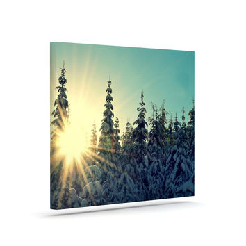 "Robin Dickinson ""Shine Bright"" Snowy Trees Canvas Art"