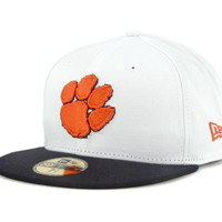 Clemson Tigers NCAA White 2 Tone 59FIFTY