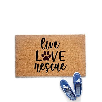 Live Love Rescue Doormat