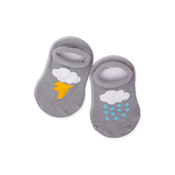 born Boys Baby Infant Girl Ankle Socks Cloud Print Cotton Anti-slip Socks 0-4Y H77