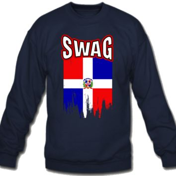 Swag Dominican Flag Sweatshirt Crew Neck