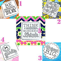 Set of ALL 10 Inspirational Stickers! --- vinyl 4 inch Black and White Stickers