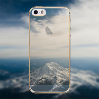 Beautiful Mountains Clouds Scenery Transparent Soft TPU Crystal Phone Cover Case Shell For Apple iPhone 6 6s