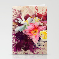 Country Floral Stationery Cards by Allison Reich