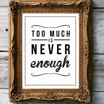 Retro Art Print by RockTheCustardPrints - Never Enough