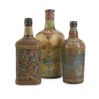 Vintage Designer Set of 3 Circus Bottles by IMAX