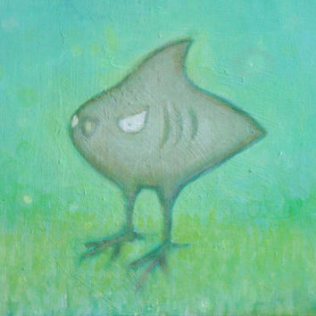 shark bird painting