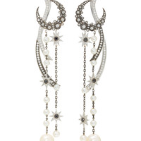 18K Gold Diamond Earrings | Moda Operandi