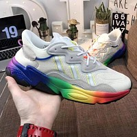 ADIDAS OZWEEGO PRIDE Fashionable Men Women Personality Running Sport Sneakers Shoes