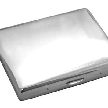 Visol Mirror Polished Stainless Steel Cigarette Case - Holds 20 100s Size Cigarettes