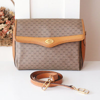 Gucci Bag Monogram Vintage Shoulder Handbag Purse