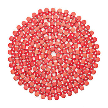 Round Bamboo Placemat by Kim Seybert | Coral S/ 4