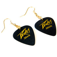 Black/Grey Guitar Pick Earrings